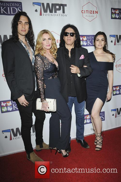 Nick Simmons, Shannon Tweed, Gene Simmons and Sophie Simmons 2