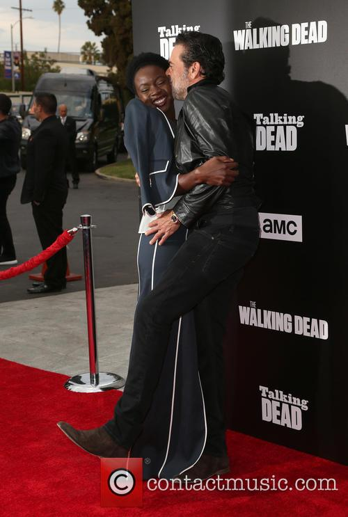 Danai Gurira and Jeffrey Dean Morgan