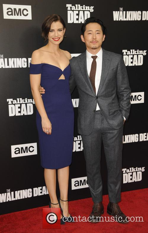 Steven Yeun and Lauren Cohan 1