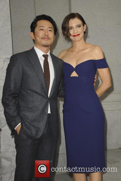 Steven Yeun and Lauren Cohan 2