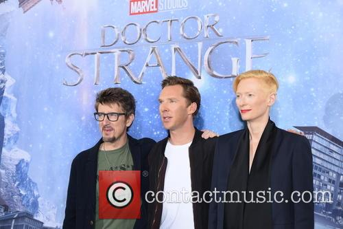 Scott Derrickson, Tilda Swinton and Benedict Cumberbatch 11