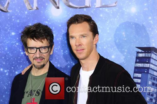 Scott Derrickson and Benedict Cumberbatch