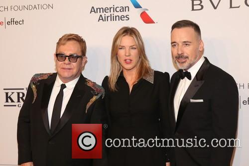 Sir Elton John, ­­­­­­­­­­­­­diana Krall and David Furnish 3