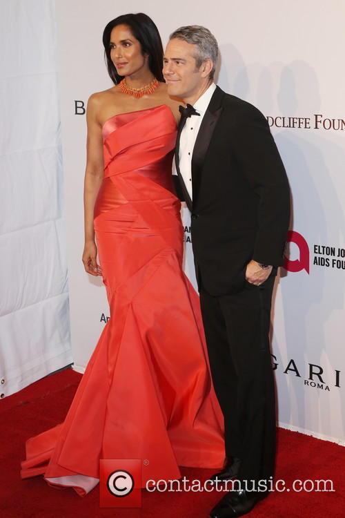 Padma Lakshmi and Andy Cohen