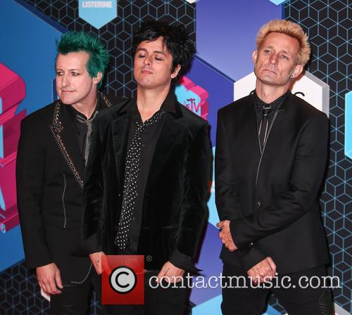 Green Day, Billie Joe Armstrong, Mike Dirnt, Tré Cool and Tre Cool 3