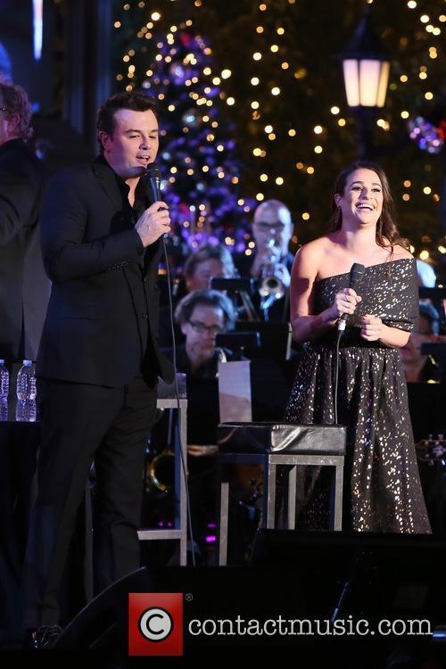 Seth Macfarlane and Lea Michele