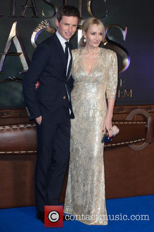 Eddie Redmayne and J.k. Rowling 5