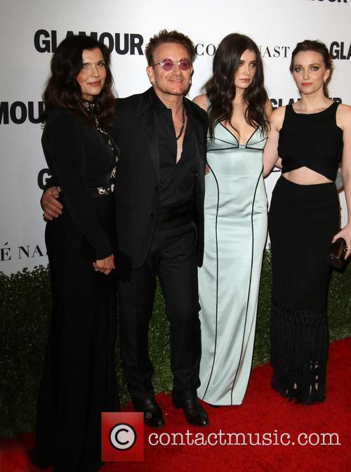 Bono, Wife Alison Hewson, Daughters Eve Hewson and Jordan Hewson 6