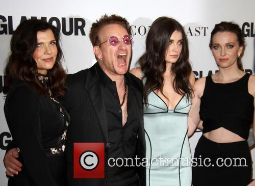 Bono, Wife Alison Hewson, Daughters Eve Hewson and Jordan Hewson 7