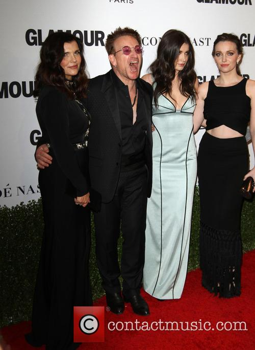 Bono, Wife Alison Hewson, Daughters Eve Hewson and Jordan Hewson 8