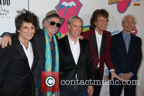 Mick Jagger, Keith Richards, Ronnie Wood, Tommy Hilfiger and Charlie Watts 11