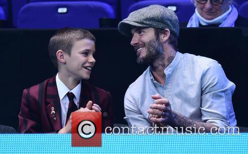 David Beckham and Romeo Beckham 5
