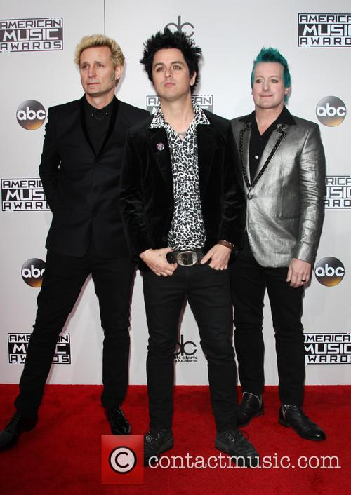 Mike Dirnt, Billie Joe Armstrong and Tré Cool Of Green Day 2