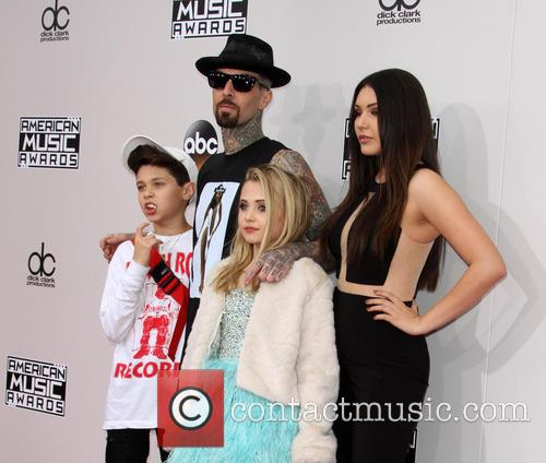 Landon Asher Barker, Travis Barker, Alabama Luella Barker and Atiana De La Hoya