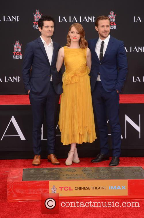 Damien Chazelle, Emma Stone and Ryan Gosling 3