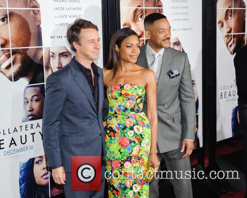 Edward Norton, Naomie Harris and Will Smith 4