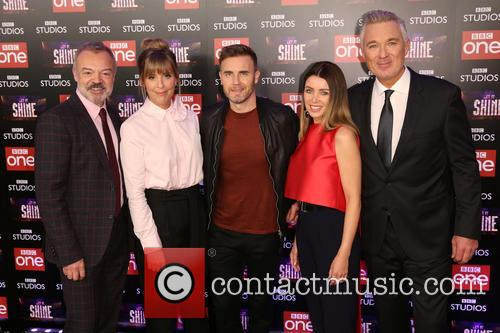 Graham Norton, Mel Giedroyc, Gary Barlow, Dannii Minogue and Martin Kemp 2