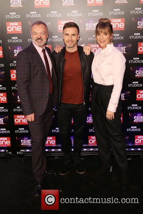 Graham Norton, Gary Barlow and Mel Giedroyc 5