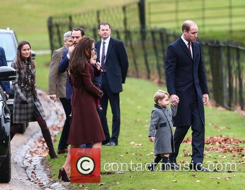 Prince William, Duke Of Cambridge, Prince George, Kate Middleton, Catherine Duchess Of Cambridge, Princess Charlotte and Pippa Middleton 3