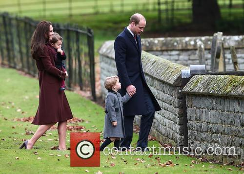 Prince William, Duke Of Cambridge, Prince George, Kate Middleton, Catherine Duchess Of Cambridge and Princess Charlotte 4