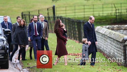 Duke Of Cambridge, Prince William, Catherine Duchess Of Cambridge, Prince George, Princess Charlotte, Kate Middleton, Pippa Middleton, James Middleton, Michael Middleton, Carole Middleton and James Matthews 1