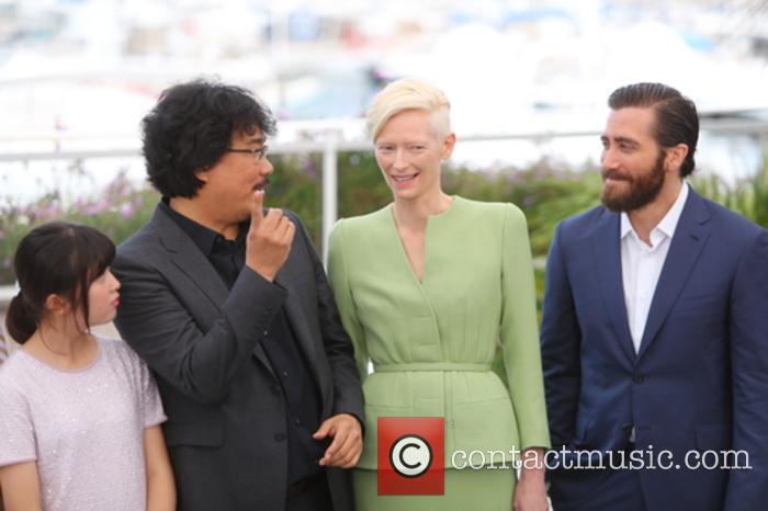 Bong Joon-ho, Tilda Swinton, Jake Gyllenhaal and Seo-hyeon Ahn