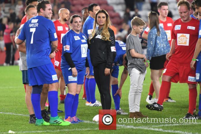 Katie Price, Kieran Hayler and Sam Bailey