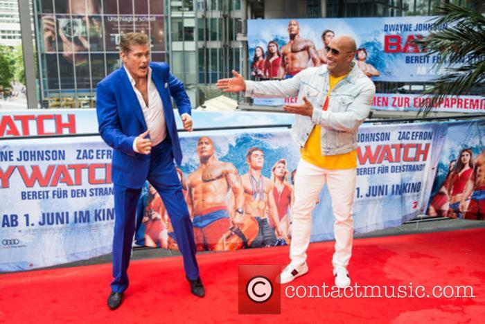 David Hasselhoff and Dwayne Johnson