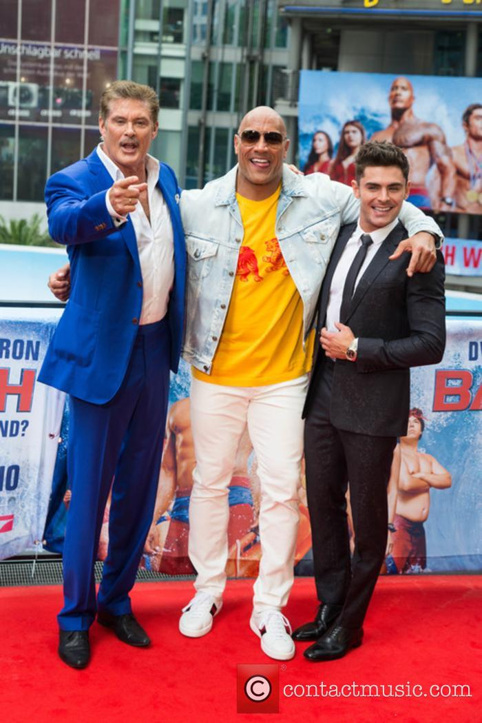 David Hasselhoff, Dwayne Johnson and Zac Efron