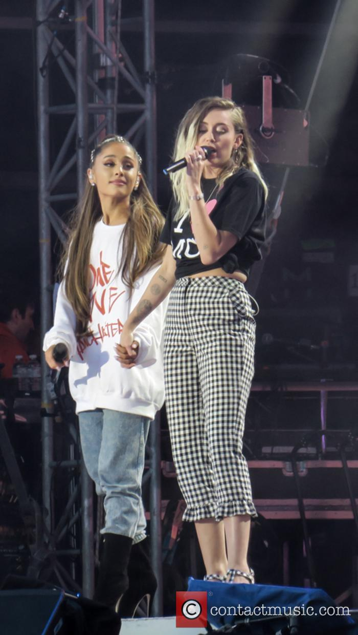 Ariana Grande and Miley Cyrus 1