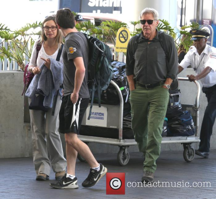 Harrison Ford, Calista Flockhart and Liam Flockhart