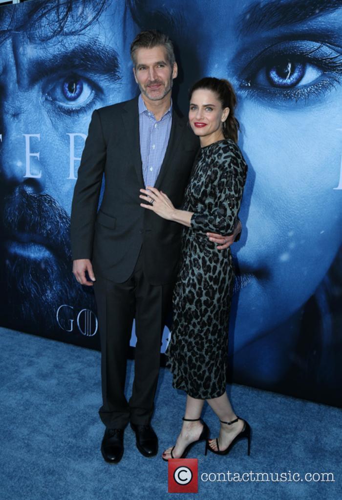 David Benioff and Amanda Peet