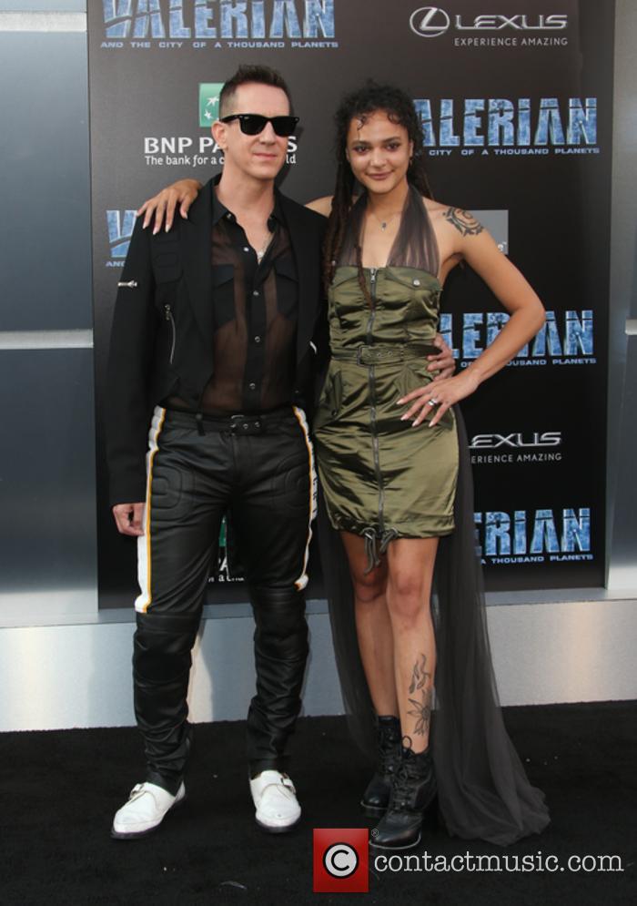 Jeremy Scott and Sasha Lane