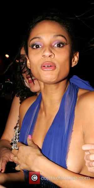 Strictly Come Dancing 2007 winner Alesha Dixon leaving her End of Year Party a little worse for wear held at...