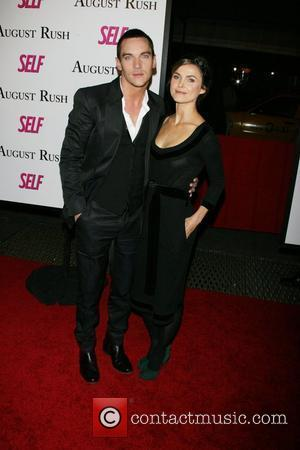Jonathan Rhys Meyers, Keri Russell The movie premiere of 'August Rush' held at the Ziegfield Theater New York City, USA...