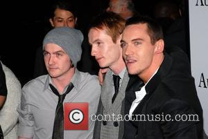 Jonathan Rhys Meyers and his brothers Premiere of 'August Rush' held at the Ziegfield Theater - Arrivals New York City,...