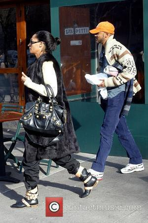 Tracee Ellis Ross and her boyfriend leaving Bar Pitti restaurant New York City, USA - 06.03.08