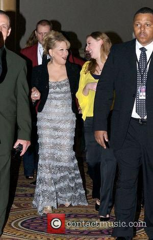 Bette Midler and her daughter Sophie von Haselberg arrive at the aftershow party for 'The Showgirl Must Go On' opening...
