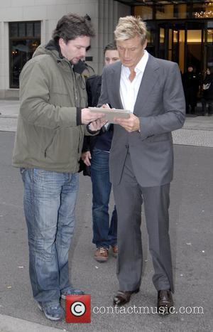 Dolph Lundgren leaving Ritz-Carlton hotel early in the morning and signing autographs Berlin Film Festival 2008 (Berlinale) Berlin, Germany -...