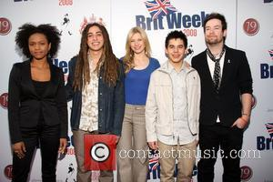 (l-r) Syesha Mercado, Jason Castro, Brooke White, David Archuleta and David Cook Champagne Launch of BritWeek 2008, held at the...