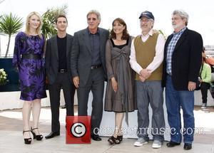 Cate Blanchett, Shia LaBeouf, Steven Spielberg, Harison Ford, Karen Allen and George Lucas The 2008 Cannes Film Festival - Day...
