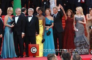 Steven Spielberg, George Lucas, Calista Flockhart, Cannes Film Festival, 2008 Cannes Film Festival