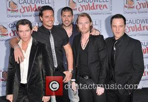 Stephen Gately, Keith Duffy, Shane Lynch, Ronan Keating and Mikey Graham of Boyzone Caudwell Children present 'The Legends Ball' at...