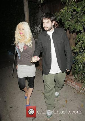 Christina Aguilera and husband Jordan Bratman  Leaving the Little Door restaurant in West Hollywood after having a late dinner...
