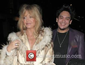 Goldie Hawn and Prince Azim leaving Cipriani restaurant London, England - 08.03.08
