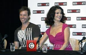 Guy Pearce and Catherine Zeta-Jones Press conference for the film 'Death Defying Acts' at Sydney Opera House ahead of the...