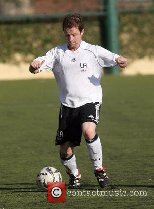 Declan Donelly playing football for Robbie William's Los Angeles Vale soccer team California, USA - 30.06.07