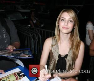 Emma Roberts signing autographs when arriving at ABC Studios to appear on ' Good Morning America ' New York City,USA...