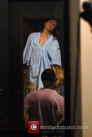 Megan Fox on the film set of the movie,