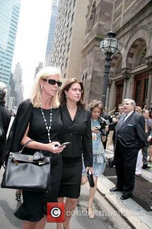 Lorraine Bracco and guests depart the funeral of Claudia Cohen held at Central Synagogue New York City, USA - 18.06.07